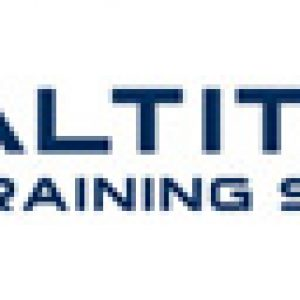 Close up of the equine Altitude Training Systems logo