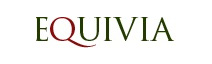 Close up of the Equivia equestrian surfaces logo