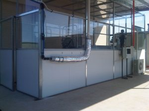 The exterior of an equine Altitude Training Systems chamber
