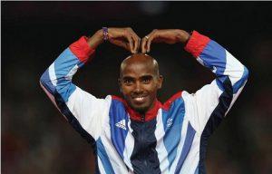 British Olympic gold medalist Mo Farrah