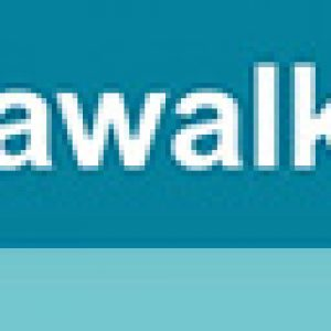 Close up of the Seawalker Horse Water Walker logo