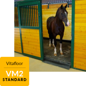 Vitafloor the original vibrating floor systems the VM2 which fits into a standard stable allowing the horse to fully relax whilst using it.