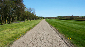 Equine Health Centre Equivia a market leader in all weather surfaces for arenas gallops and lunge rings. The start of the gallops