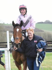 Equine Health Centre Seawalker Vitafloor Belebro Equivia Altitude Training Systems sponsor Barbury Point To Point the winning combination being led in