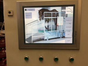 The easy to use touch screen display on a Horse Gym 2000